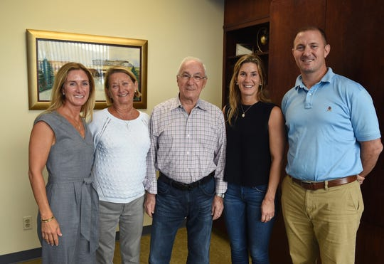 Photo of the Toufayan's family (L to R),Karen, Suzzanne (mother), Harry (father), Kristine and Greg, photographed at Toufayan Bakery in Ridgefield on 10/04/18. The Toufayan family is celebrating it's 50th year of doing business in New Jersey. The bakery is widely credited with popularizing pita bread in the U.S.