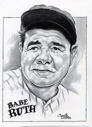 Babe Ruth illustration by Charlie McGill / The Record