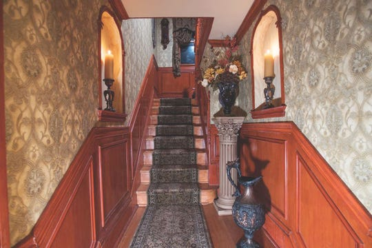What's at the end of the stairs at the Montclair home of Robert Calderone and Dr. Joseph Amorino? Only one way to find out...