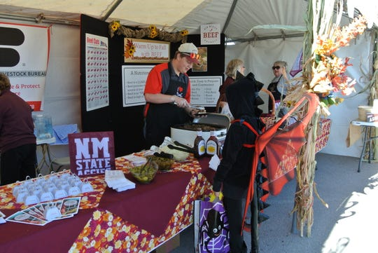 The New Mexico Beef Council served beef samples to AG Day attendees at one of the 50 booths at 2017 AG Day.
