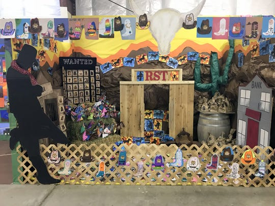 Students at Ruben S. Torres Elementary School put together a handsome exhibit of arts and crafts.