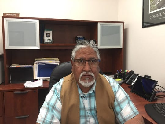 Eddy County Public Works Director Ray Romero talks about the work on Black River Village Road.