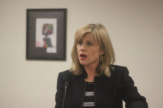 District Judge Lisa Riley defends herself against allegations she made a racist comment to Carlsbad High School Principal Adam Amador, during a Sept. 26 School Board meeting.