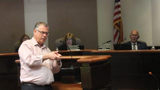 State Senator Daniel Ivey-Soto addresses City Commissioners