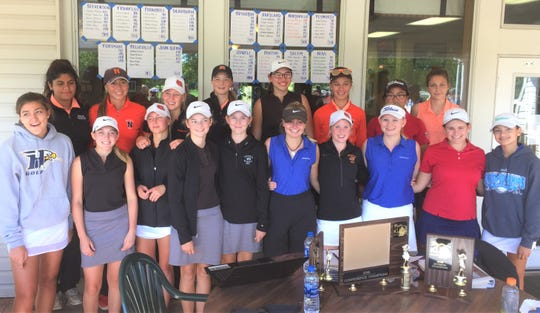 The All-Kensington Lakes Activities Association girls golf team poses for a group photo following their tourney Oct. 4 at Salem Hills.