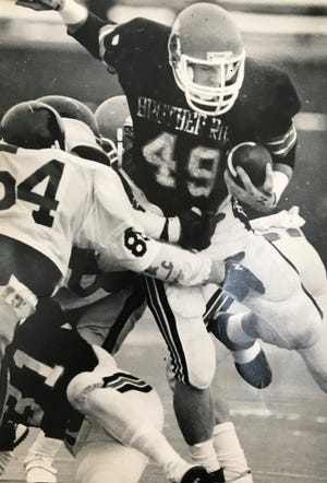 Steve Morrison was a powerful fullback and hard-hitting linebacker during his prep days at Brother Rice.