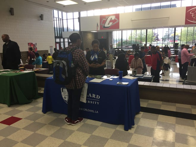Last year's scholarship fair attracted hundreds of students.