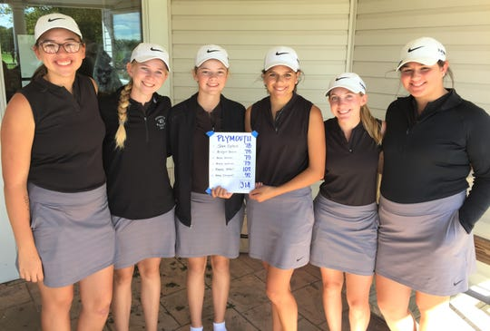 The Plymouth girls golf team took runner-up honors in the KLAA Tournament on Oct. 4 at Salem Hills G.C.