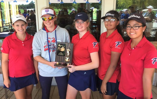Franklin was awarded the KLAA East Division dual meet championship trophy.