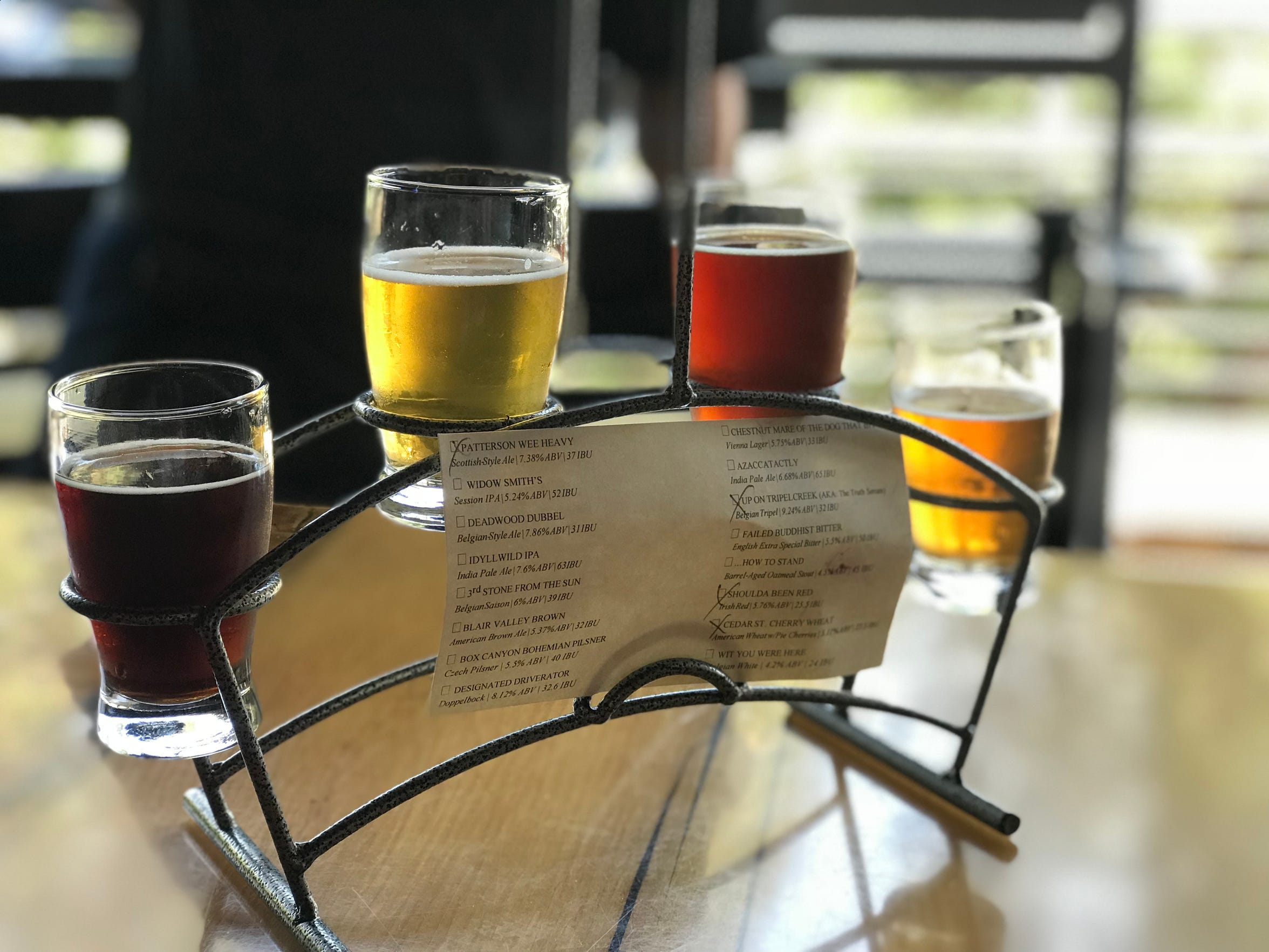 Idyllwild BrewPub boasts house brews that change daily.