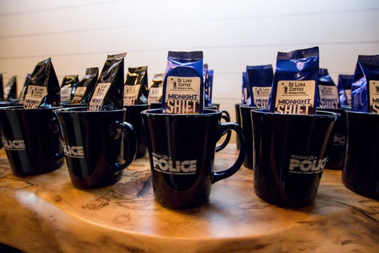 """The Pensacola Police Department partnered with De Luna Coffee International to create its own blend of coffee called """"Midnight Shift"""" that will be sold in stores and sold in restaurants."""
