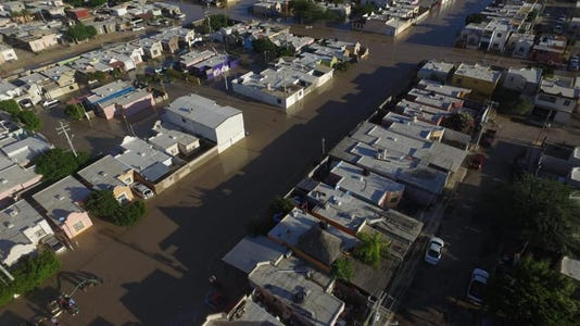 Hurricane Rosa flooding in Rocky Point
