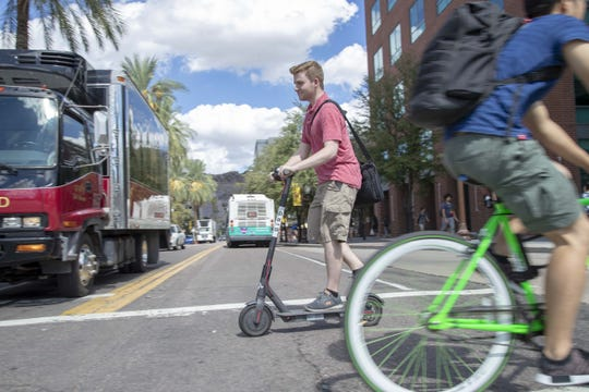 The Tempe City Council will vote next month on safety regulations for bicycles and electric scooters.