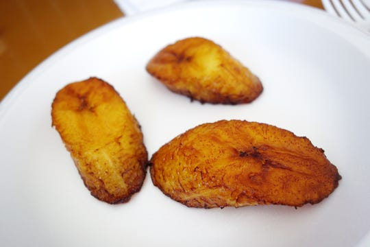 Amarillos (fried sweet plantains) at Millie's Cafe in Mesa.