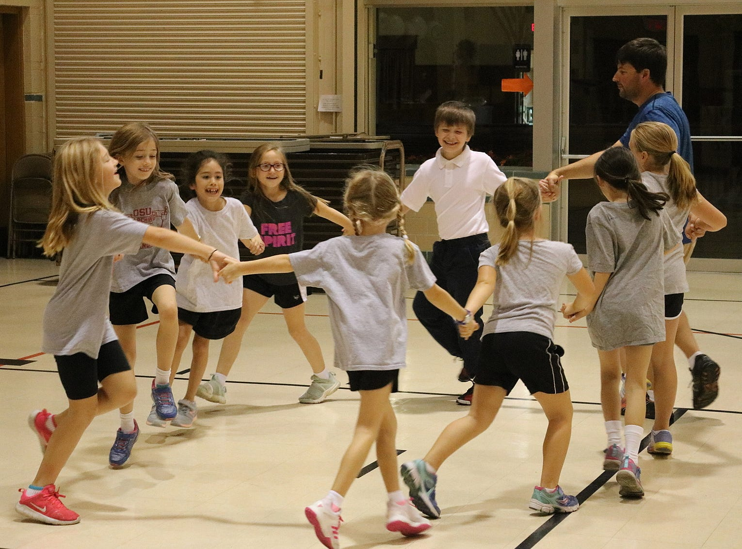 On Wednesday, students at Immaculate Conception School began to learn square dancing in preparation for the Boots and Buckles Pig Roast and Square Dance event later this month.