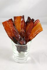 Celebrity chef Guy Klinzing knows everyone loves candied bacon.