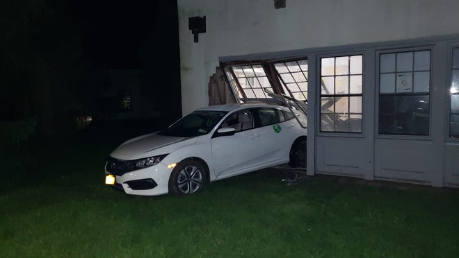 A person accidentally drove a car into an unoccupied building at Bard College Wednesday night, according to Red Hook police.