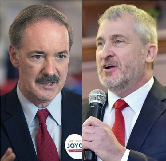 Republican John Joyce, left, and Democrat Brent Ottaway, candidates for Pennsylvania's 13th U.S. Congressional District.