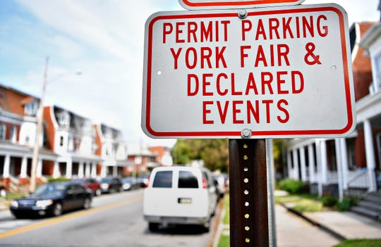 Street signs posted along the avenues in York City, Thursday, Oct. 4, 2018. Dawn J. Sagert photo