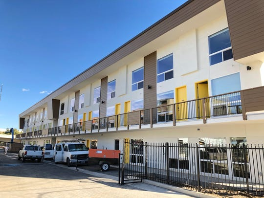 New apartments along the Truckee River behind Second Street on Wells Avenue.