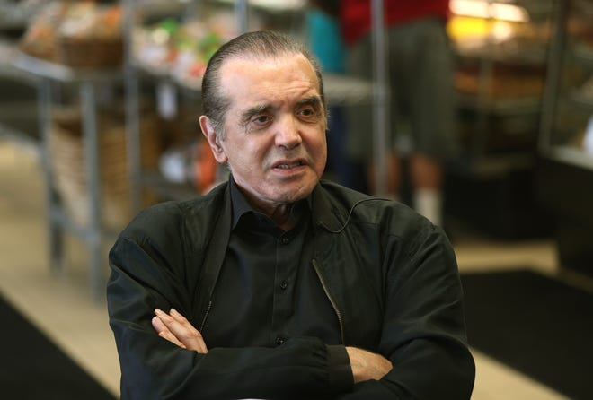 "Actor Chazz Palminteri visited Savoia Pastry Shoppe  as he comes to Rochester before the opening of his musical of ""A Bronx Tale."""