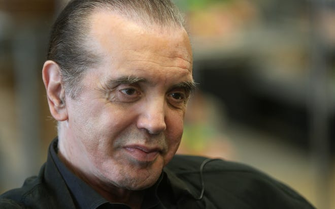 Actor Chazz Palminteri visited Savoia Pastry Shoppe as he comes to Rochester before the opening of his musical, 'A Bronx Tale. '
