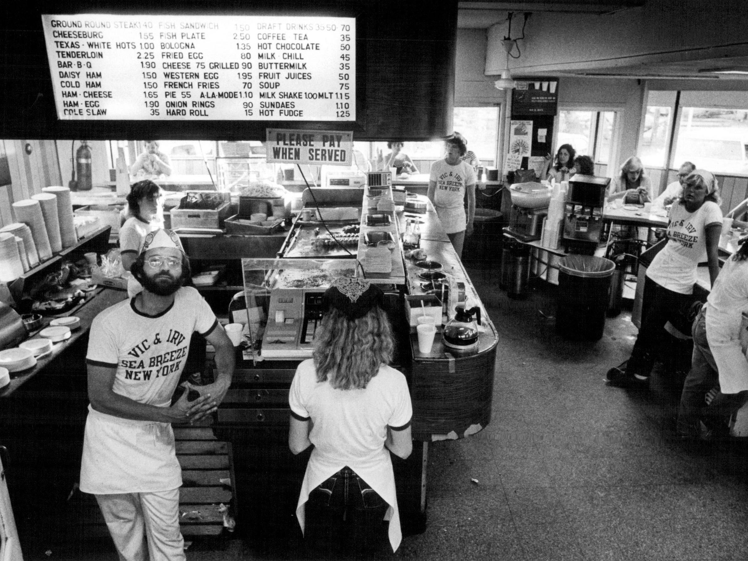 This 1982 photo shows the interior of Vic & Irv's restaurant.