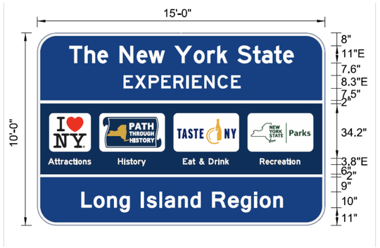 New York's Sept. 28 deal with the Federal Highway Administration will allow 103 of these signs to remain up along highways.
