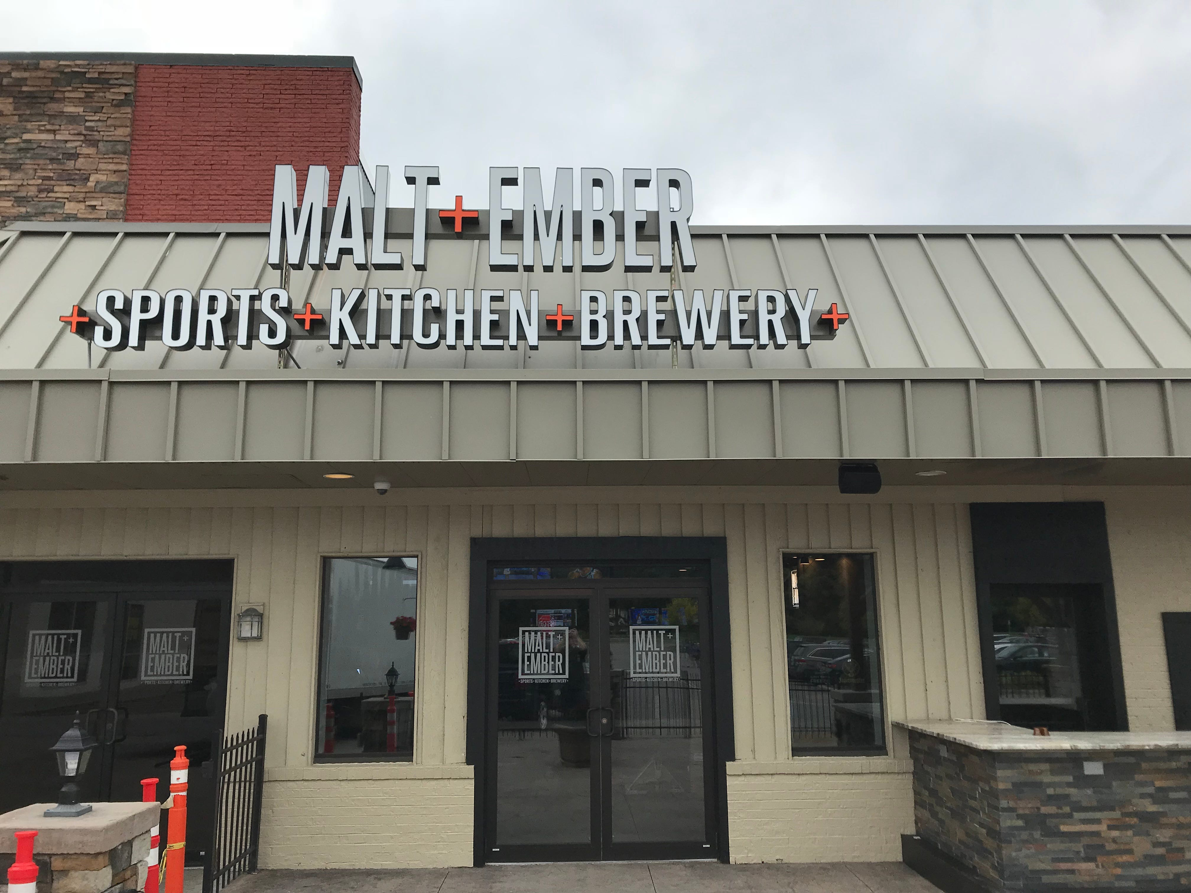 Malt + Ember is a combination sports bar, restaurant, and brewery. It opens soon at the Mall at Greece Ridge.