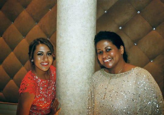 Alysa Ocasio with her mother, Sandy Guardiola.