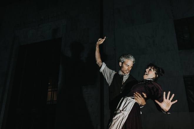 "Enlightened Theatrics presents, ""Sweeney Todd: The Demon Barber of Fleet Street,"" a thrilling musical production directed by Vincenzo Meduri."