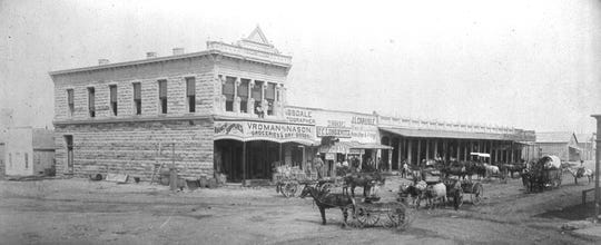 Vroman and Nason Mercantile Store, seen in the 1880s, occupied the space that eventually became the Arc Light Saloon on Chadbourne Street in downtown San Angelo.