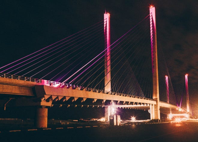 The Indian River Inlet Bridge will be pink during the month of October.
