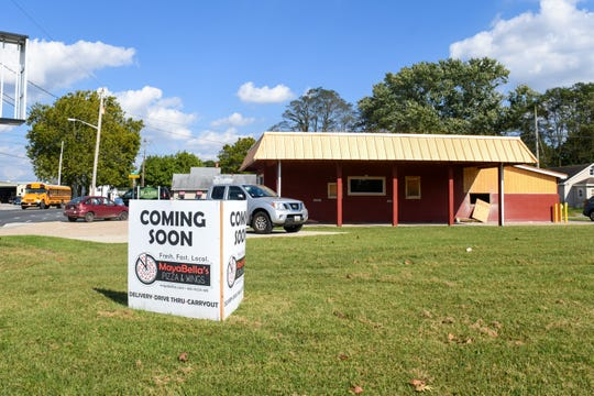 The new drive-thru location of MayaBella's Pizza & Wings on Wednesday, Oct 3, 2018. The planned opening of the restaurant is Nov 1.