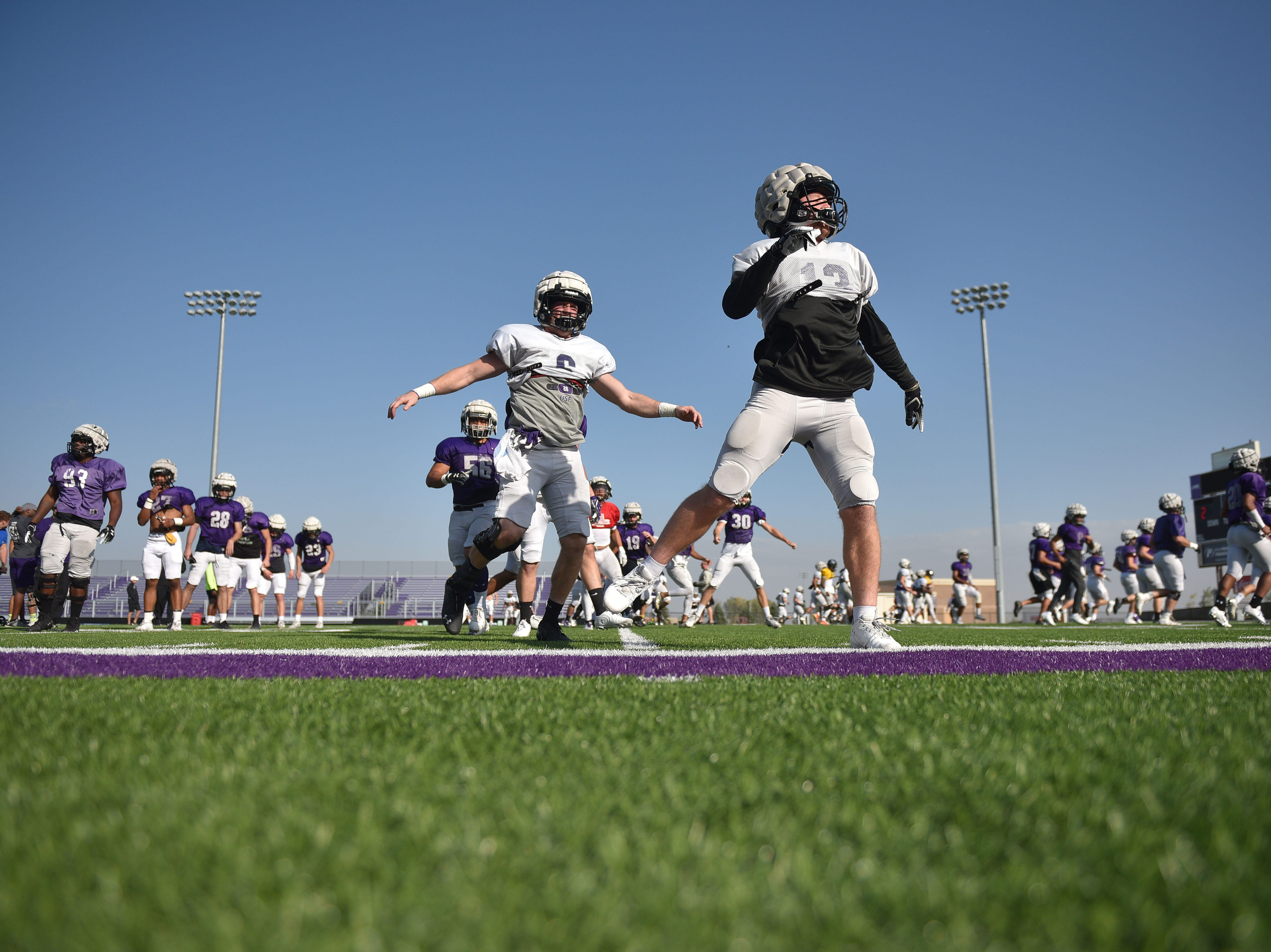 University of Sioux Falls practice Wednesday, Oct. 3, at Bob Young field.