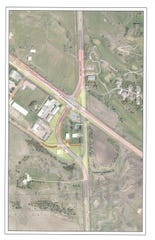 Designs of the 2019 Highway 42 reconstruction project have Six Mile Road squared with Arrowhead Parkway. Currently the intersection is skewed.