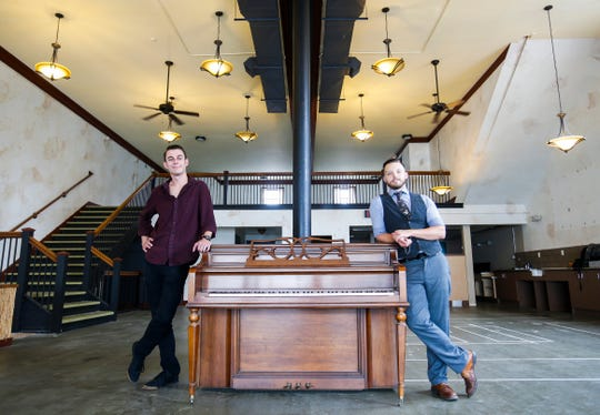 Jimmy Rollins (left) and Dylan Fox posed for a photo several months before the 2019 opening of their jazz club, Hepcat Jazz Lounge.