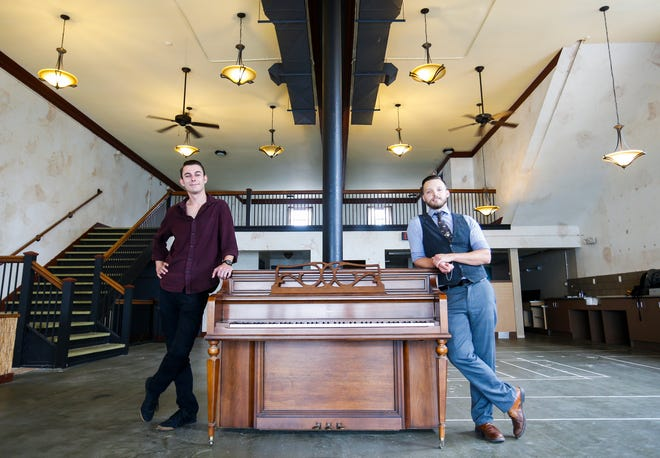 Jimmy Rollins (left) and Dylan Fox are opening a new jazz club in Downtown Springfield called The Hepcat. The new music, food and drinks venue will be located at the corner of McDaniel Street and Campbell Avenue next to Nathan P. Murphy's.