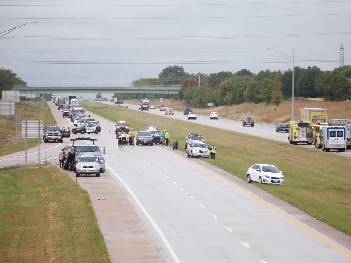 A multi-vehicle crash Thursday morning shut down all eastbound lanes of James River Freeway.