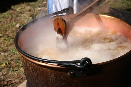 Apple butter making will be demonstrated at Haunting in the Hills at Alley Spring on Oct. 13.