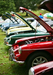 All colors, models and makes of MGs, Austin-Healeys, Jaguars and MINI Coopers, just to name a few, turned out at the annual British Car Show at Ridgeview Park in Waynesboro in 2016, hosted by the Shenandoah Valley British Car Club.