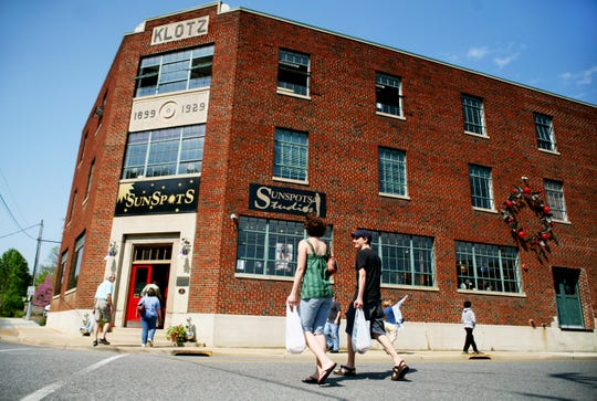 Sunspots Studios in Staunton sells handmade glassware and art as well as giving demonstrations of glassblowing everyday until 4 p.m.