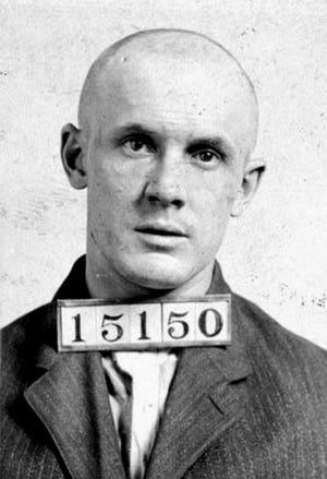 Frederick Thomas' mug shot at the Virginia Penitentiary.