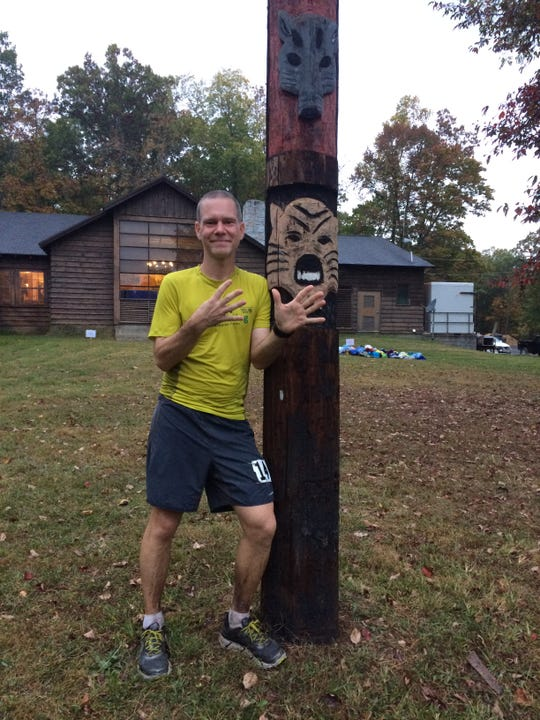 Last year Marc Griffin finished his ninth Grindstone. He's the only person to have run all of the Grindstone 100s in Swoope.