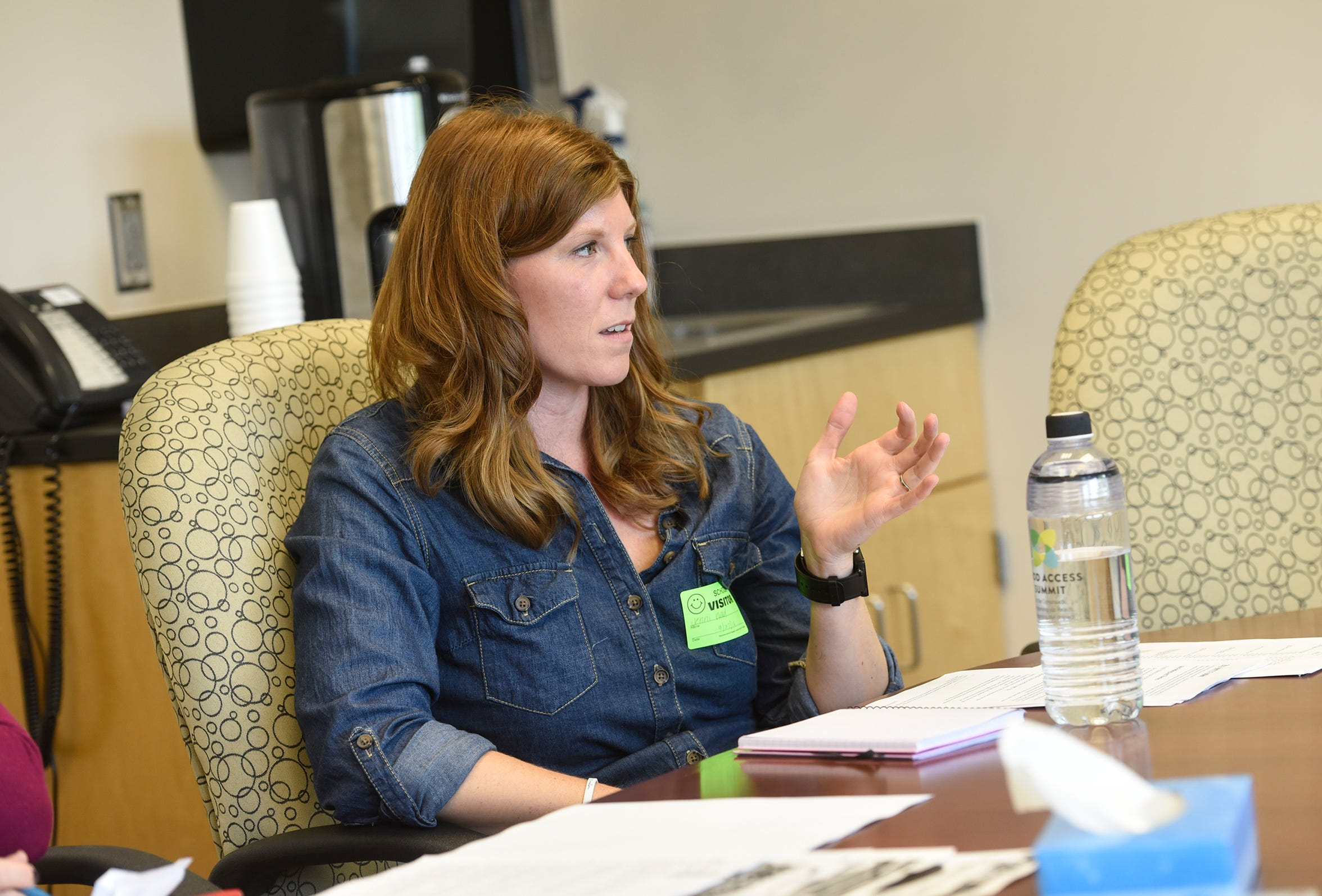 Stearns County Public Health Coordinator Jennifer Wald speaks during an interview Thursday, Sept. 25, in Sauk Rapids.