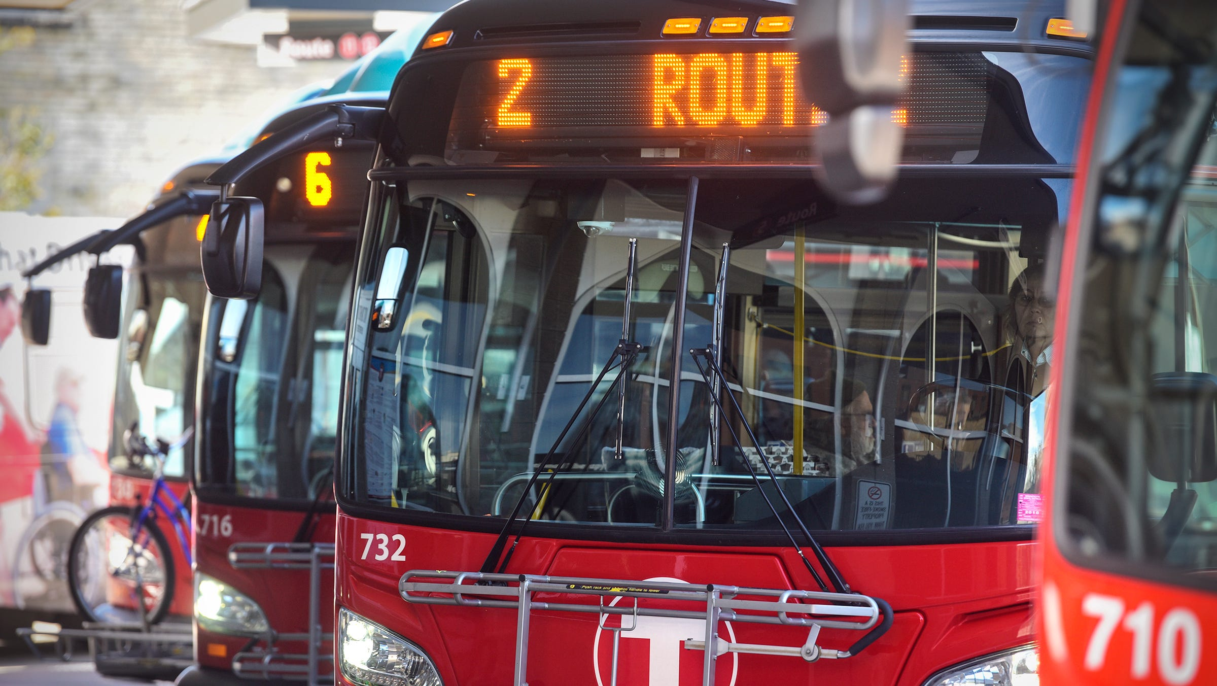Buses take on passengers Thursday, Oct. 4, at the Metro Bus Transit Center in downtown St. Cloud.