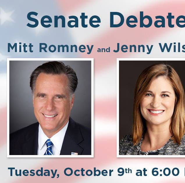 Mitt Romney, Jenny Wilson set for debate at Southern Utah University in Cedar City
