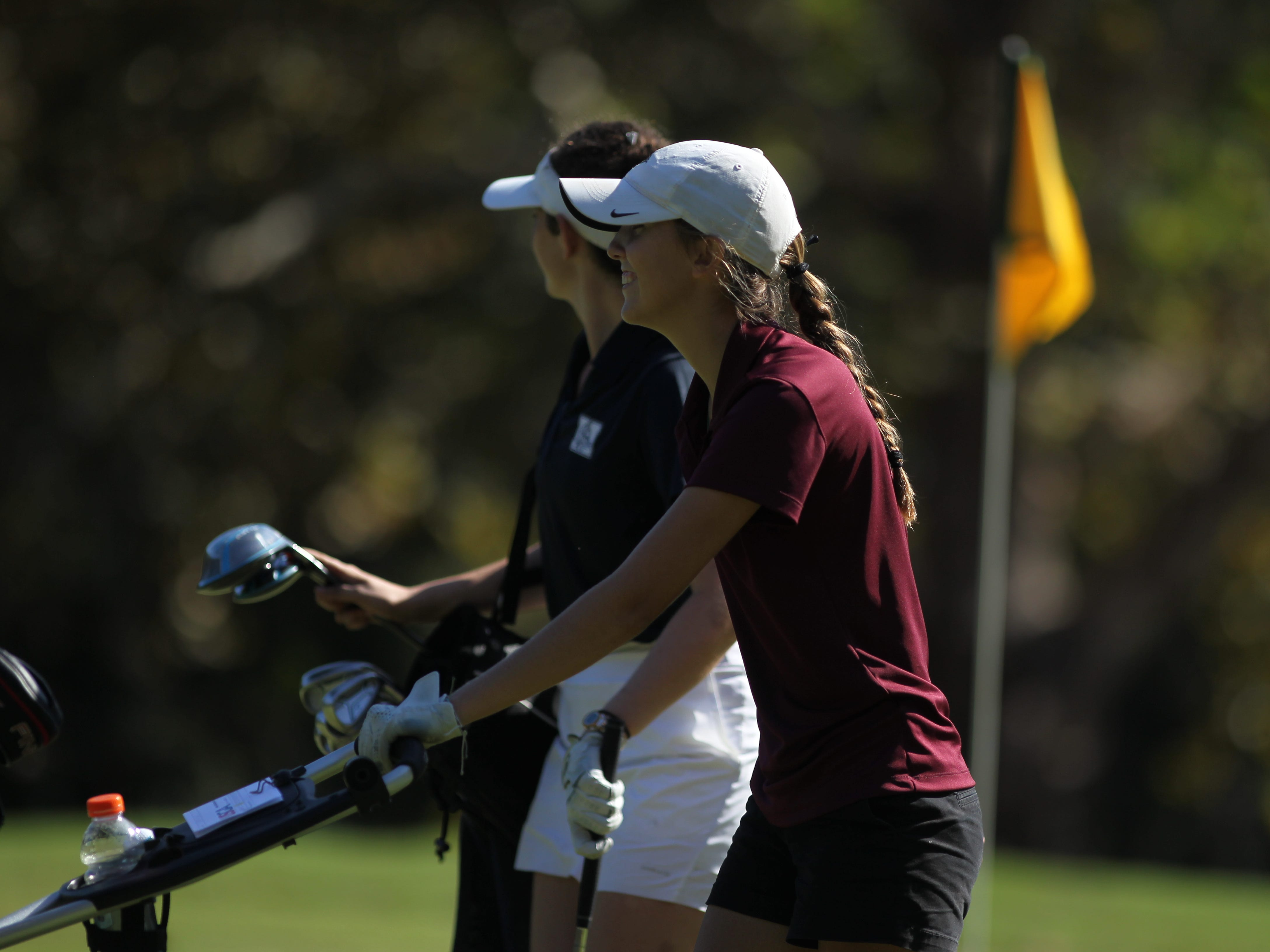 Florida High's Jordan Jones plays in the girls golf Panhandle Invitational at Killearn Country Club, Oct. 4, 2018.