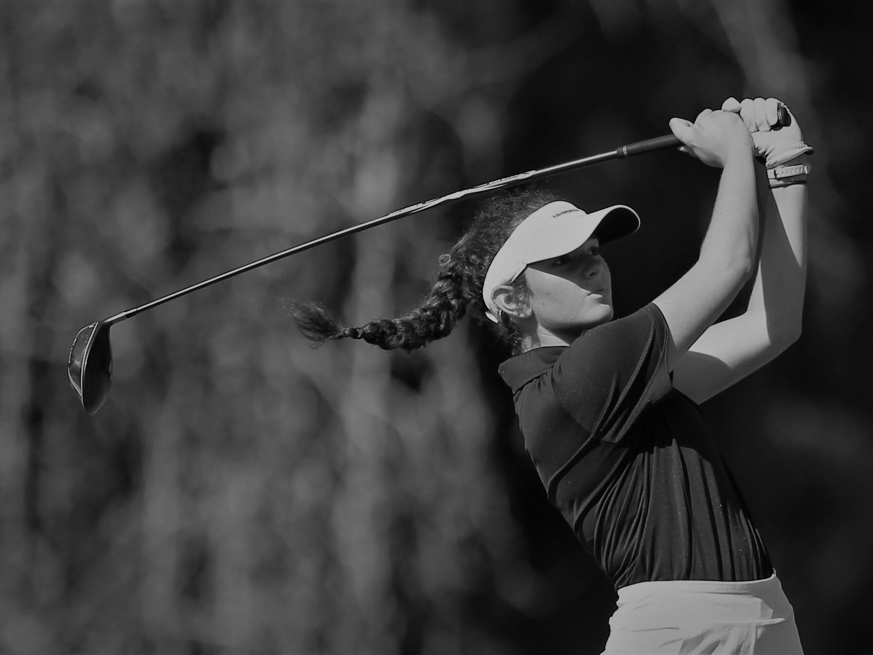 Maclay junior Laura Kathryn Foote plays in the girls golf Panhandle Invitational at Killearn Country Club, Oct. 4, 2018.