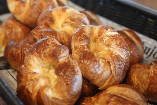 Fresh croissants are served at Little Paris, a new French restaurant in Tallahassee, Fla. as they celebrated their opening day Thursday, Oct. 4, 2018.